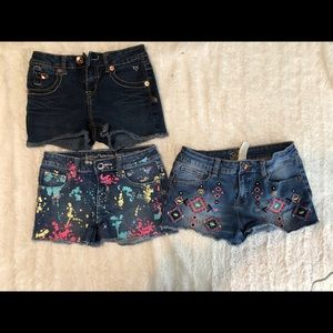 Girls size 10 justice shorts lot